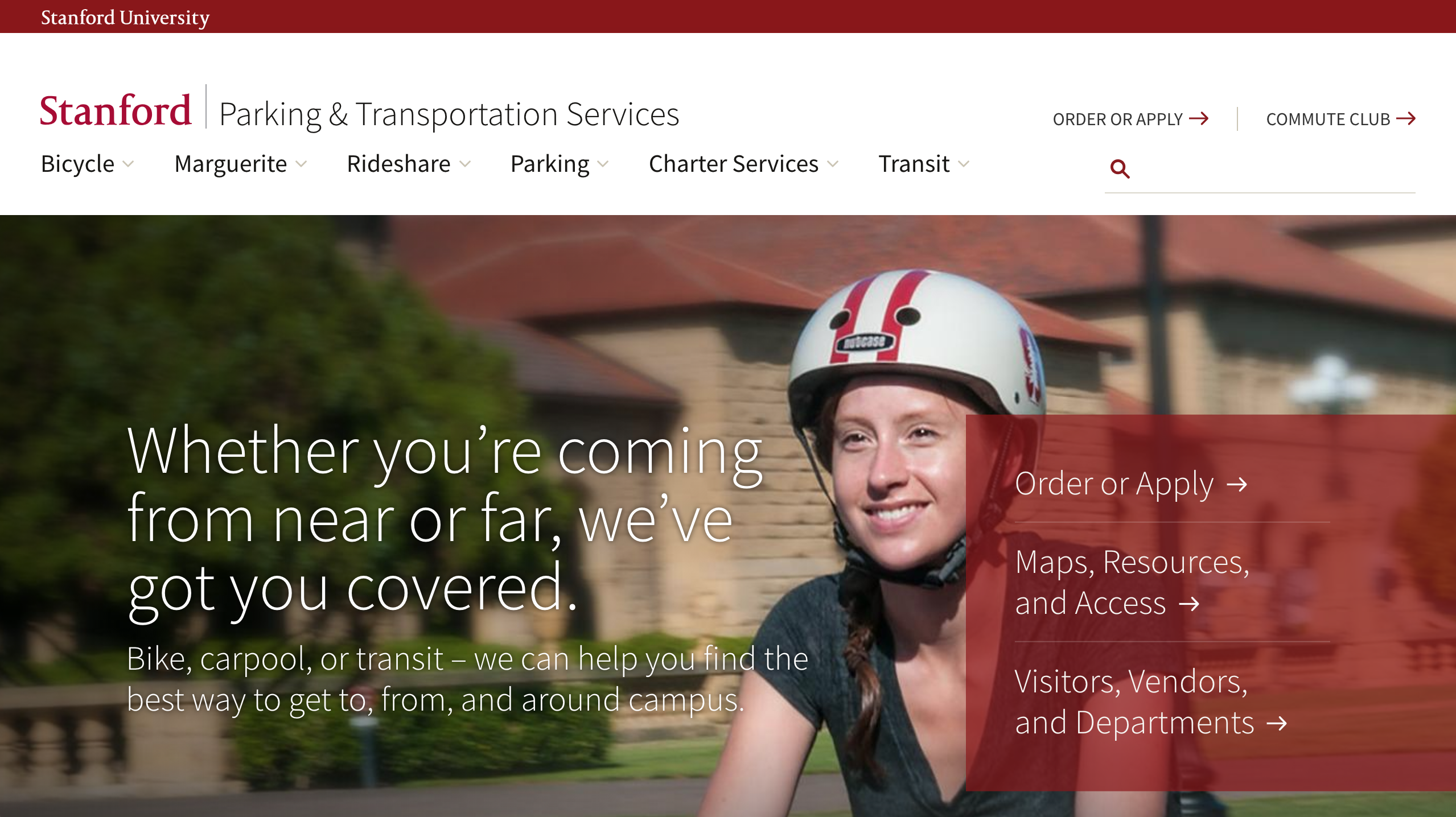 Stanford Parking & Transportation Website